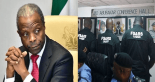 """Vice President Yemi Osinbajo Finally """"Ends"""" SARS, While Acting As President On Buhari's Absence"""