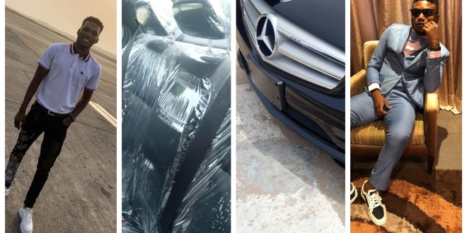 "Etins Record Boss Gifts ""Victor AD"" a Brand New Benz For Christmas(Photos)"