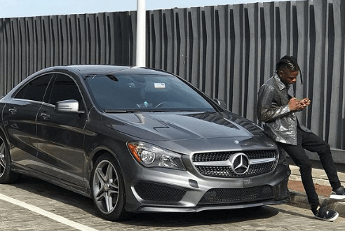 Lil Kesh Acquires a New Benz AMG C 43 worth N19.8million (Photos)