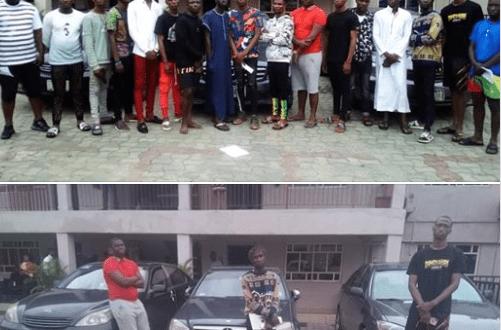 EFCC Arrests 17 Suspected Internet Fraudsters In Warri (Photos)