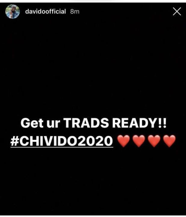 Davido and Chioma set to Wed in 2020, Hold Introduction Ceremony