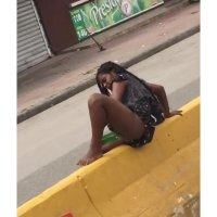 VIDEO : Mentally Unfit Lady Caught on Camera Doing Herself  With A Bottle