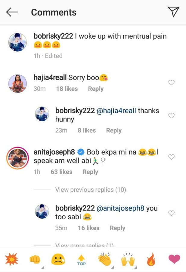 Popular Nigerian Transgender and socialite, Bobrisky has, on Tuesday 15th October 2019 revealed he woke up with menstrual pain.