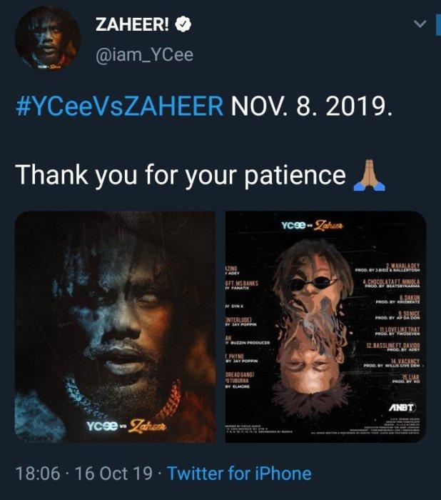 Ycee VS Zaheer album