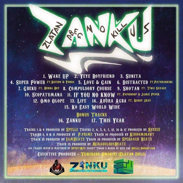 Zlatan Ibile Shares Tracklist of His Debut Album