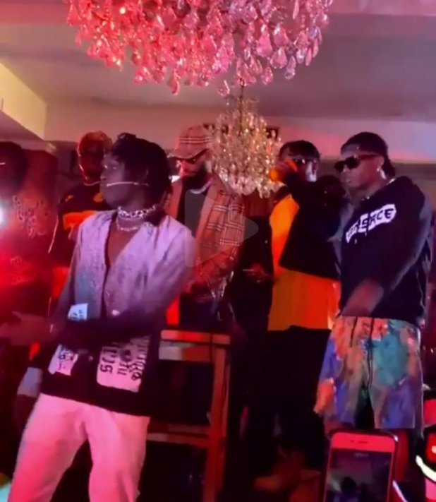Wizkid, Olamide and Phyno Spotted at Fireboy DML Album listening party (VIDEO)
