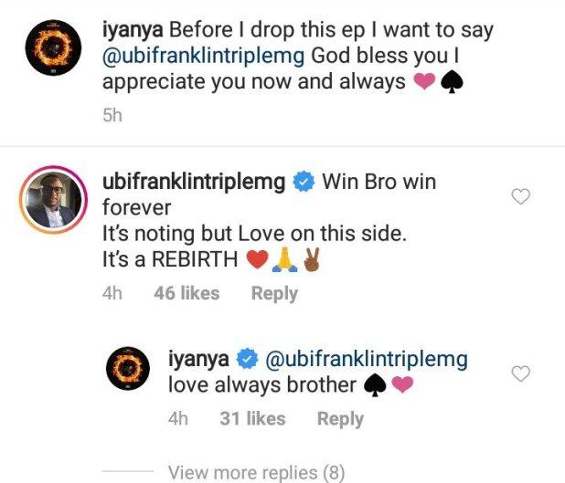 Iyanya and Former Boss  Ubi Franklin Reconciles After Battling on Social Media