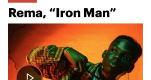 Rema's 'Iron Man' has been ranked as one of the Top 50 Songs of 2019 in the World by Rolling Stone. The Jonzing World/Mavin records act Rema has yet again bagged a new achievement.