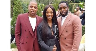 Wow! Tiwa Savage Spotted With P Diddy and Jay Z (See Photo)