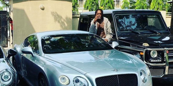 Naira Marley Shows Off His Expensive and Exotic Car Collection (PHOTOS)