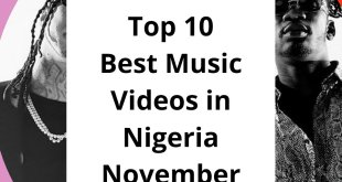 Top 10 Best Music Videos in Nigeria November 2019