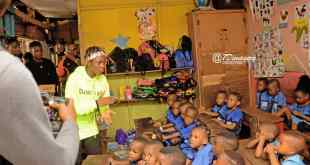 Photos From Debhie's Initiative, As she Shares Writing Materials to School in Delta State