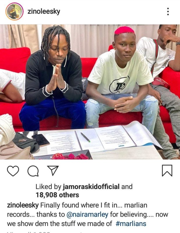'DMW is not Where I Belong' – Zinoleesky Confirms Signing to Marlian Music