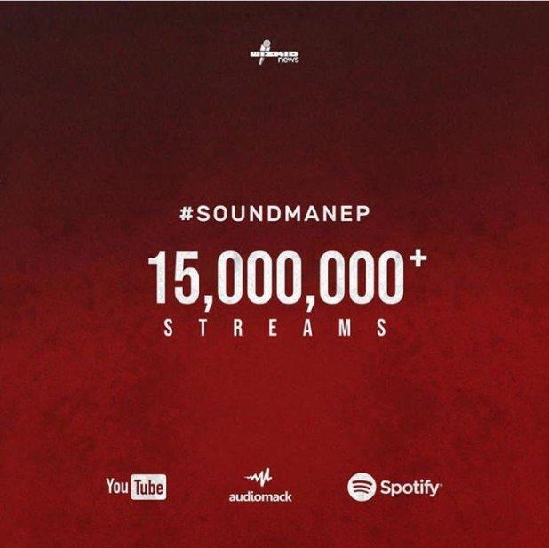 WOW! Wizkid's 'Soundman EP Vol.1' Surpasses 15 Million Streams