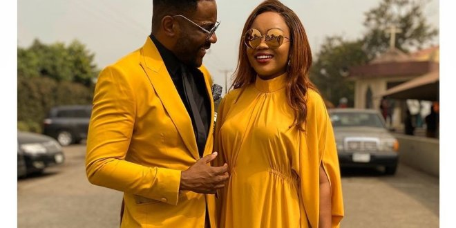 Ebuka and wife steps out in adorable and expensive outfits (PHOTO)