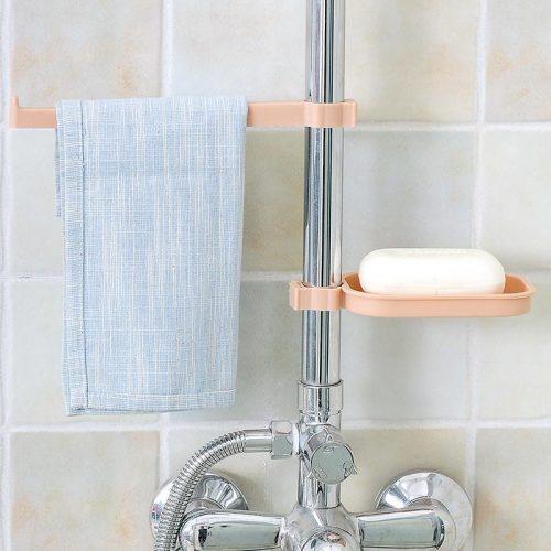 sink clip towel rack soap dish
