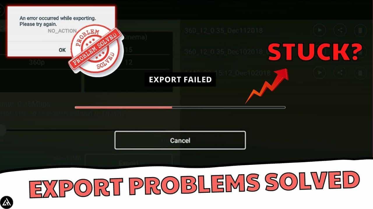 how to fix kinemaster export stuck problem legit hacks