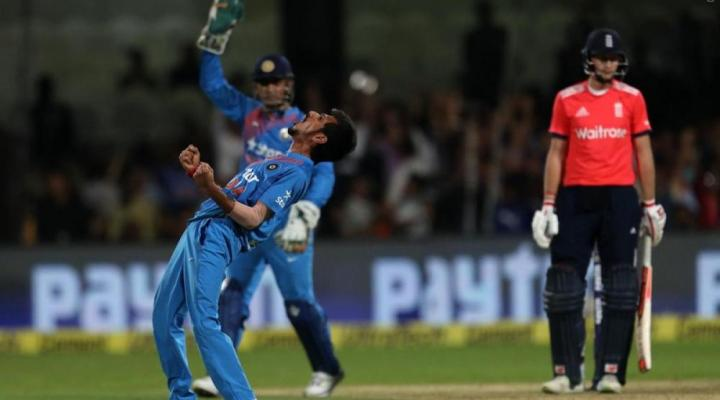Ind-Eng 3rd T20: Yuzvendra Chahal hits the biggest six