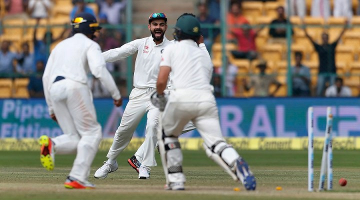India beat Australia by 75 runs; level series in Bangalore at 1-1
