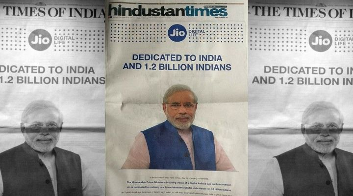 Reliance Jio, Paytm apologise for using PM Narendra Modi's image