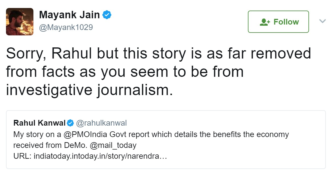 Mayank Jain Exposed Rahul Kanwal's Fake Story on DeMo Benefits