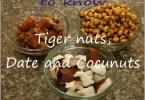 tigernuts dates coconuts drink