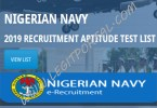 Nigerian Navy Aptitude Test Result