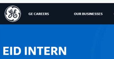General Electric EID INTERN job