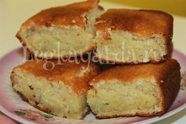 Кокосовый кекс на кефире в духовке - как испечь вкусный ...