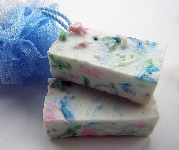 Kleur zeep van plakken