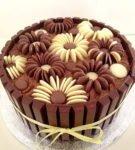 Csokoládé virágok drazséból