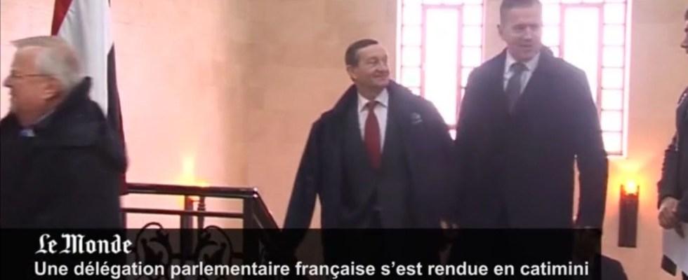 F. Zocchetto à droite - Capture d'écran images vidéo Reuters sur Le Monde.fr