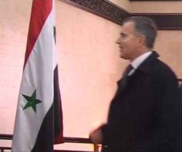 L'image de Zocchetto s'en trouve brouillée...(Capture d'écran vidéo Reuters)
