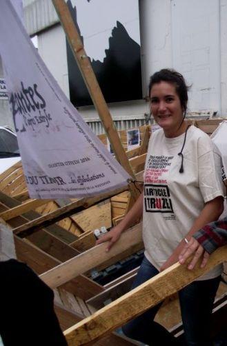 Fanny Pirotais, qui va traverser la Détroit de Gibraltar, entre l'Espagne et le Maroc
