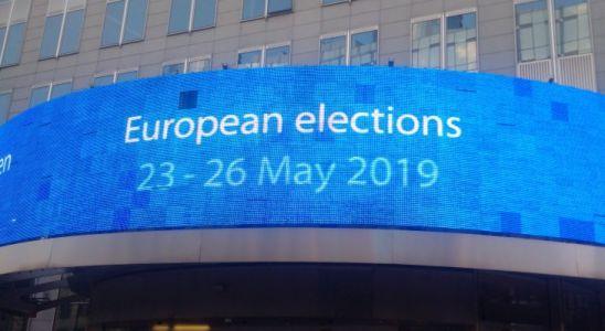 a Bruxelles sur un des bâtiments de l'UE