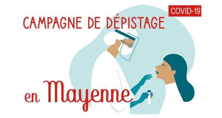 le logo dépistage global en Mayenne