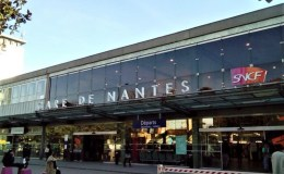 Le parvis de la gare de Nantes en Loire-Atlantique