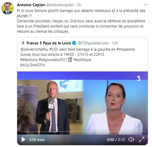 le tweet d'Antoine Caplan