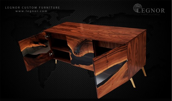 walnut tv unit