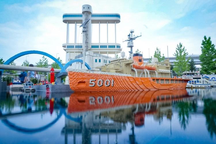 レゴランドにあるブロックで作られた名古屋港