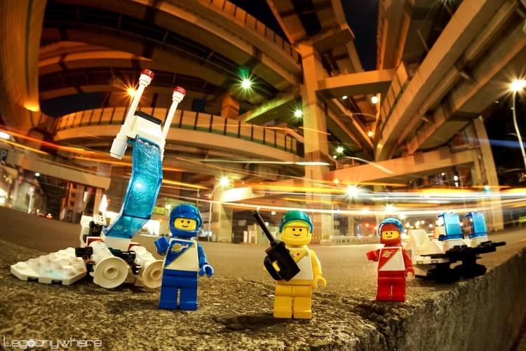レゴのミニフィグの夜景オモ写