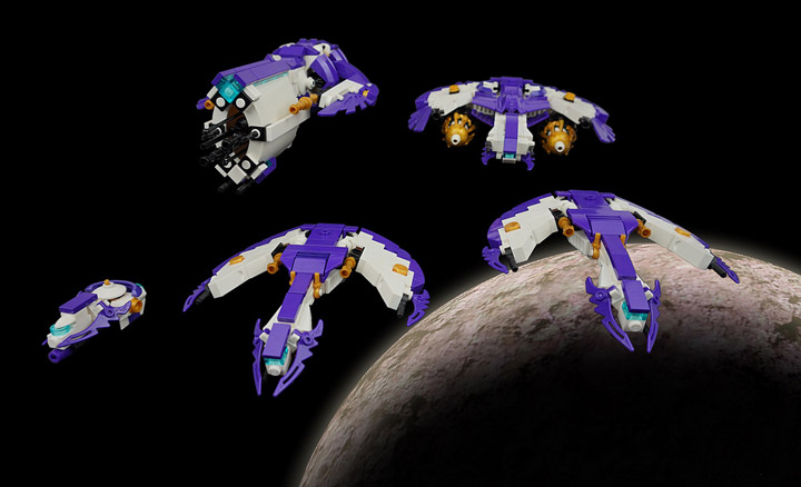 The Aquilax Fleet A Lego Micro Space Project