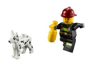 LEGO Firefighter with dog