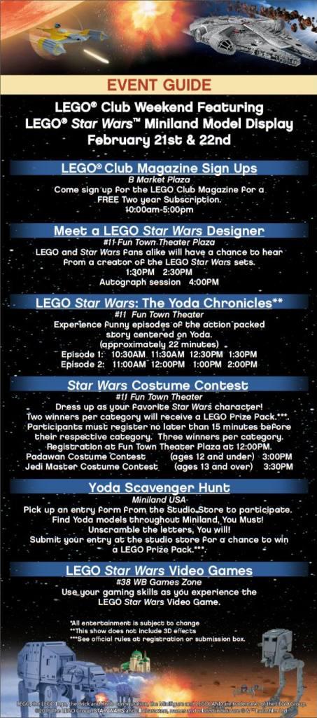LEGOLAND Florida Star Wars Event Schedule