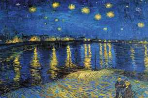 Starry Night Over Rhone / Vincent Van Gogh