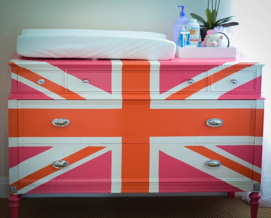 legos in my louis pink union jack dresser
