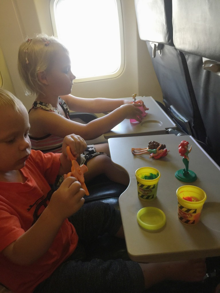 play dough for toddlers on the plane