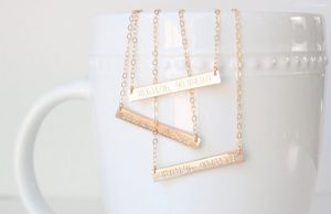 creative bar jewelry - coordinates necklace - etsy