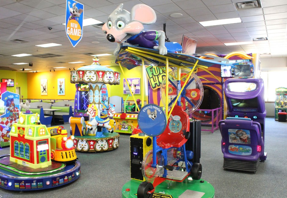 chuck e cheese on a rainy day