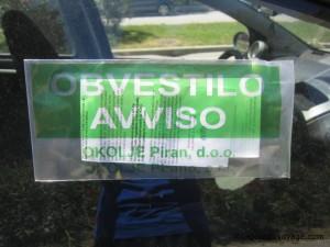 Obvestilo Avviso